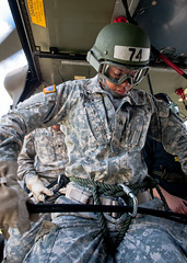 Air Assault School aircraft rappel