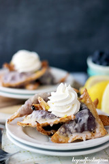 Blueberry Cheesecake Wontons