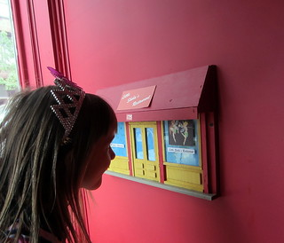 Child looking at Fairy Door