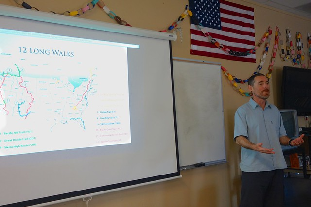 "Swami's Presentation ""12 Long Walks"" to 5th and 6th Graders"