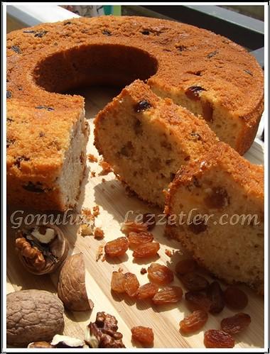 cevizli ve kuru üzümlü kek