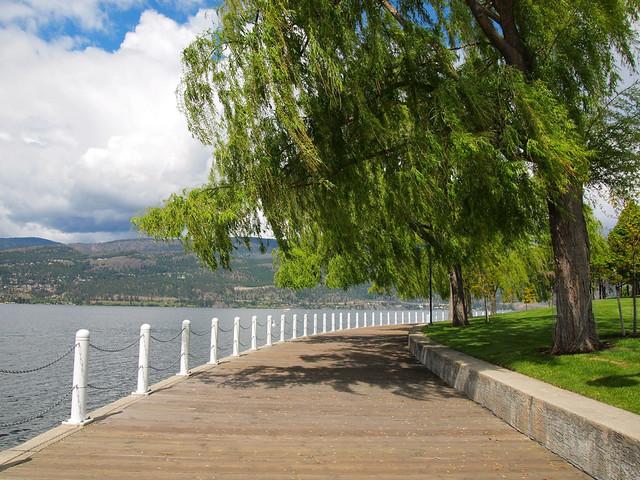 Waterfront Park along Lake Okanagan in Kelowna, BC