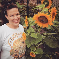 Celebrating from afar in my 1994 tour t-shirt #dead50 :v:#gratefuldead #dead #soldierfield #faretheewell #sunflowers #chinacat #picoftheday