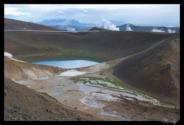 Otro cráter del Volcán Krafla