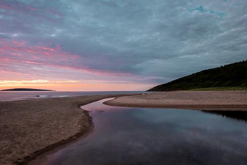 ocean sunset summer sky canada reflection beach water island sand glow novascotia capebreton after dunvegan 2015 capebretonisland margaretisland cans2s macleodsbeach fujixe2