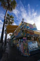 The Venice Beach Boardwalk after rain
