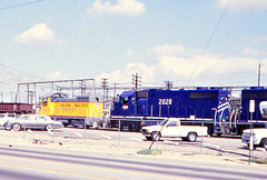 Union Pacific SW10 No. 1271 & Missouri Pacific GP38-2 No. 2028 At East Yard