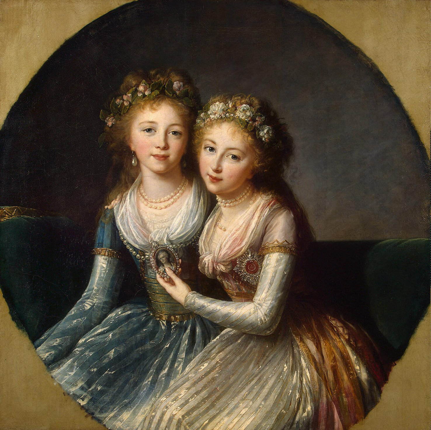 Alexandra and Elena, Daughters of Paul I of Russia by Élisabeth Vigée-Lebrun, 1796