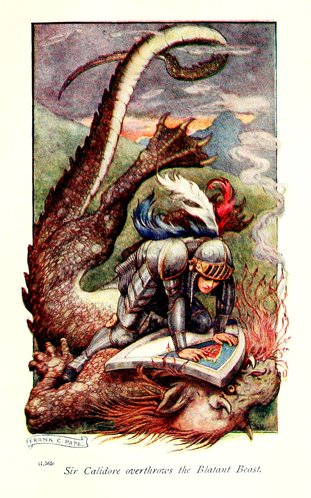 "Frank Cheyne Pape - The gateway to Spenser. Tales retold by Emily Underdown from ""The faerie queene"" of Edmund Spenser (1913) 1"