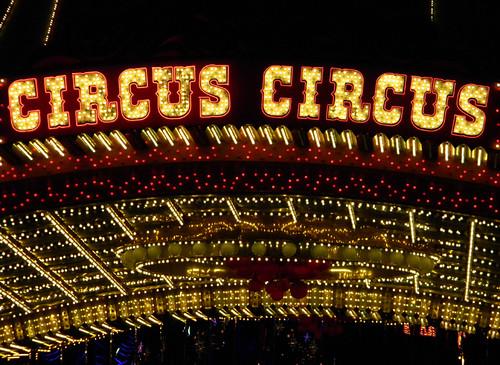 neon Circus Circus in Las Vegas