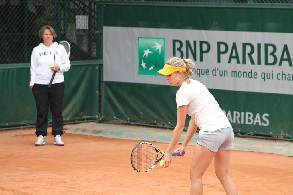 Nathalie Tauziat and Eugénie Bouchard