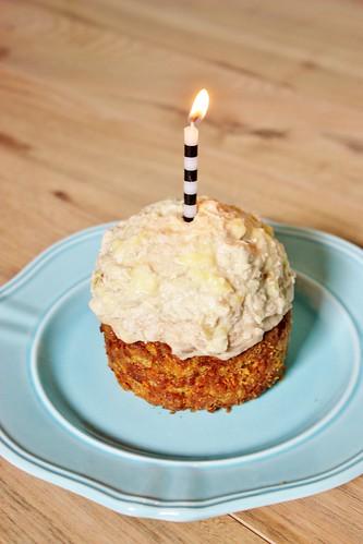 Happy 4th Anniversary Whiskey Nut Free Dog Birthday Cake