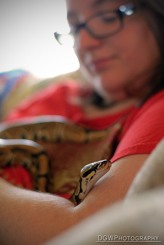 A girl and her snake...