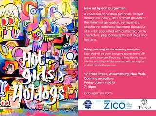 Jon Burgerman Exhibition at 17 Frost