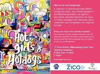 Jon Burgerman Exhibition at 17 Frost