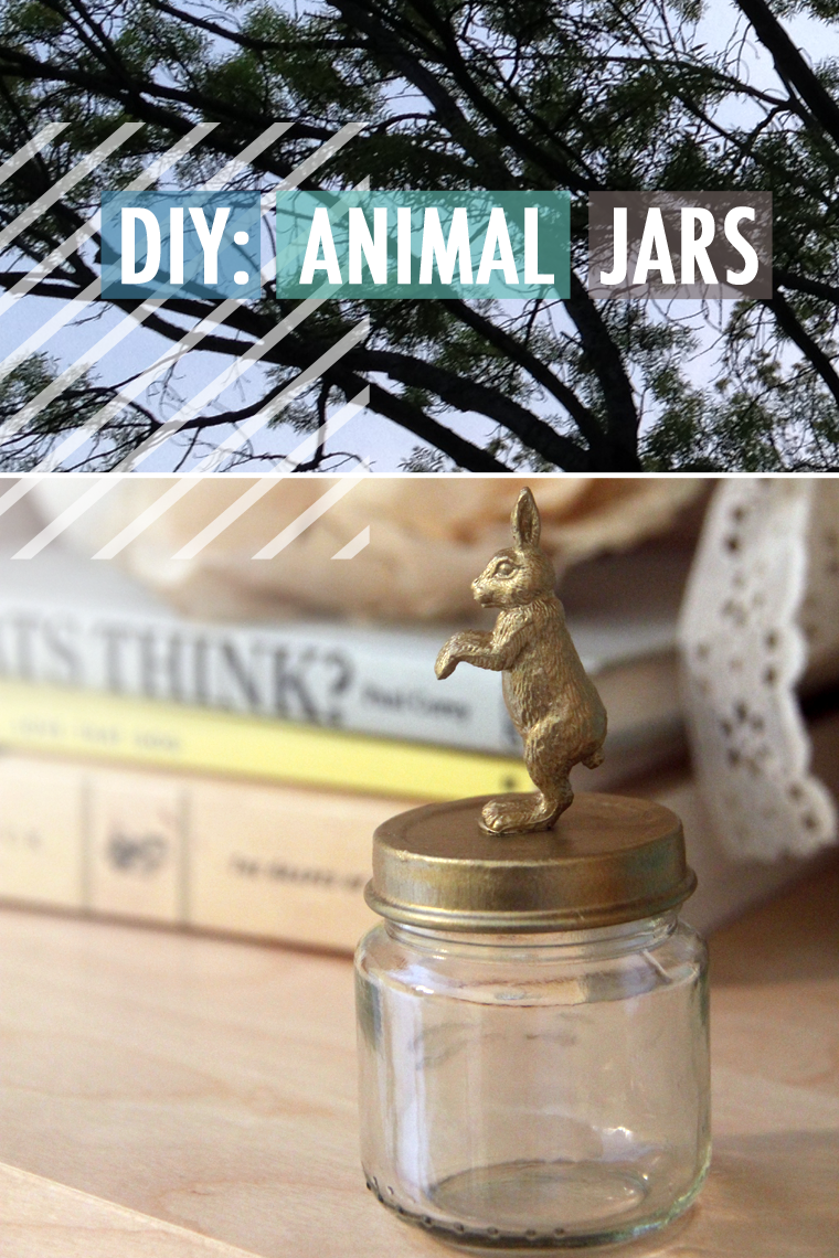 animal jars, diy animal jars, baby food jar crafts, plastic animal crafts, martha stewart acrylic paint, gold paint ideas