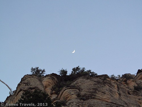 Moonrise over the cliffs above the Grandview Trail, Grand Canyon National Park, Arizona