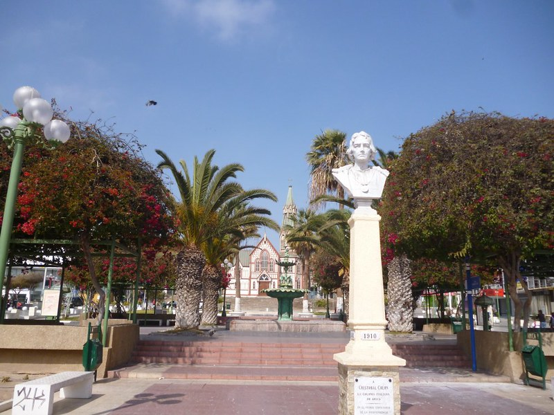 Christopher Colombus square in Arica
