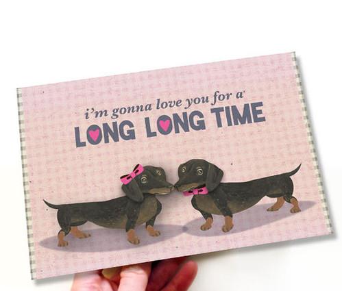 love dachshund card