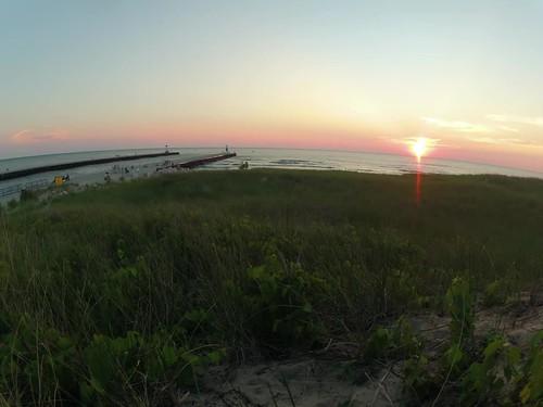 sunset water pier video michigan lakemichigan greatlakes channel montague whitelake westmichigan gopro whitelakechannel