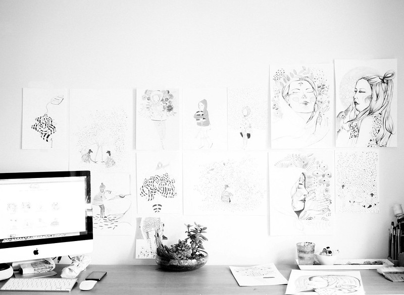 Studio Wall in b/w