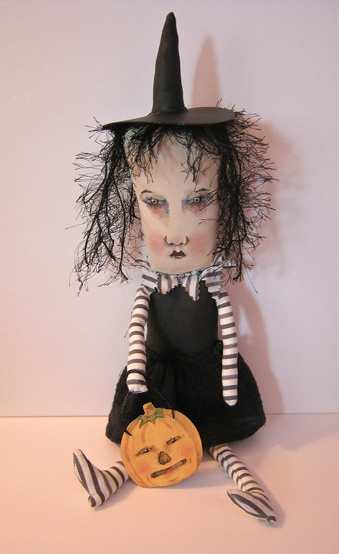 Halloween witch art doll