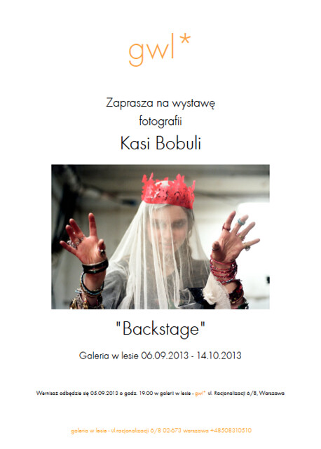 I have an exhibition of my photos opening at Galeria w Lesie gallery in Warsaw on the 5th of September. Please come!