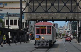 MUNI Charter Car 1 - San Francisco - 4th St. Bridge - August 18, 2013 (5)