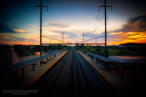 new sunset sky station train golden newjersey unitedstates sony hamilton tracks nj corridor hour transit jersey northeast hamiltontownship anawesomeshot 1650mm dvcphoto92 nex5r