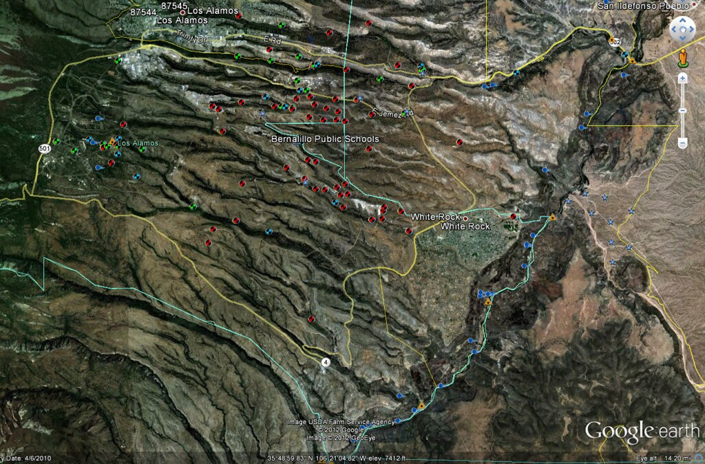 Map of LANL's groundwater monitoring network