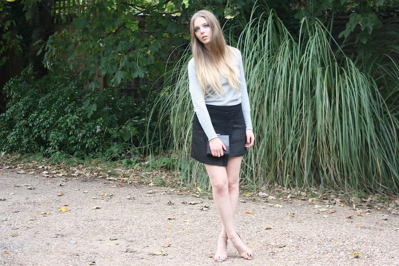 Zara jacquard wrap skirt