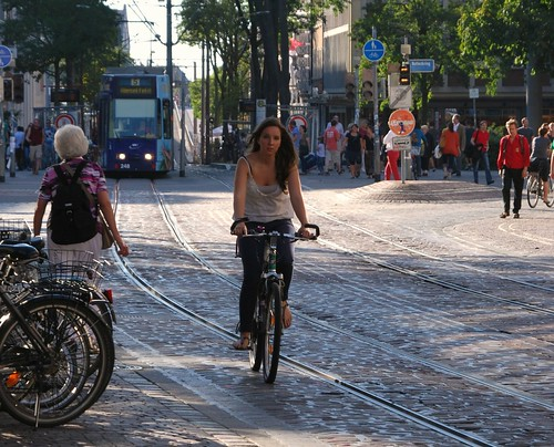 Who says bicycles and trams don't mix?