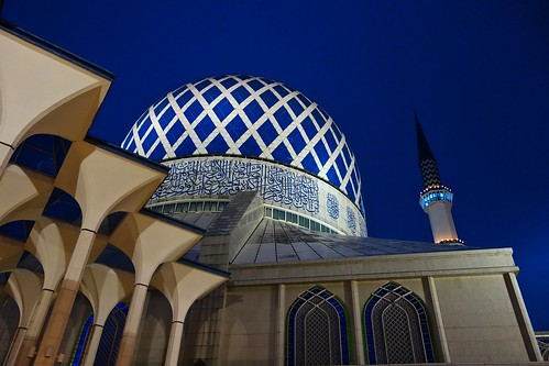 blue light sunset sony islam low mosque hour malaysia ramadhan masjid selangor shah alam fasting expsosure rx100