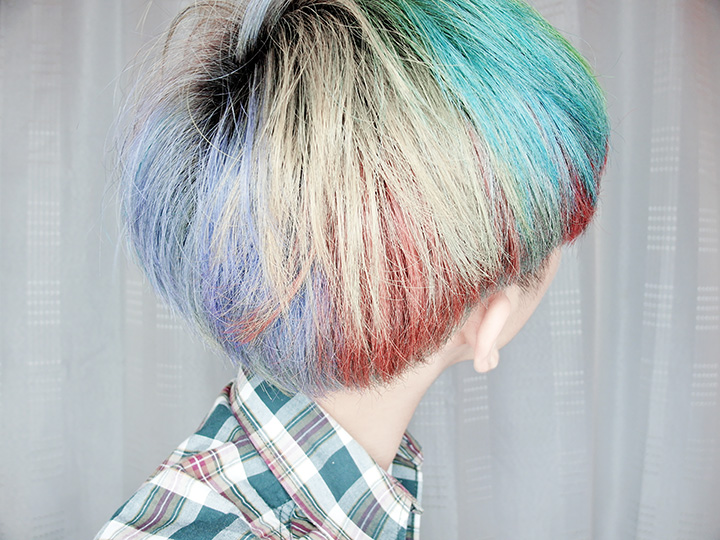 back rainbow hair colours