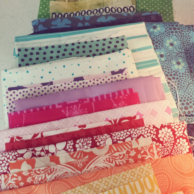 Breaking into some rainbow fabrics for #stripquilter row @sewbittersweetdesigns @fairlymerry @oneygirl50 I'm last minute on this too #ALYoF
