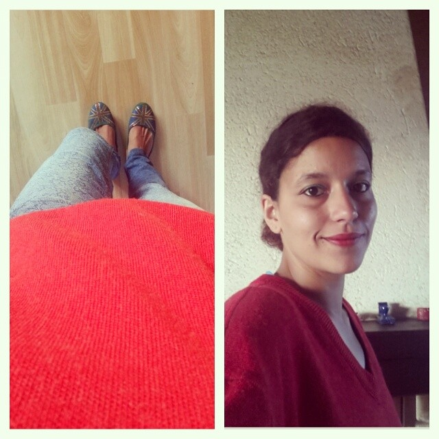 ♡ Look du jour: rouge ♡ #look #mode #lacoste #camaieu #english #blog  #ourlittlefamily #france