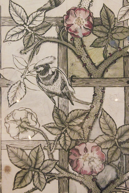 Trellis Wallpaper, designed by William Morris and Philip Webb, 1862