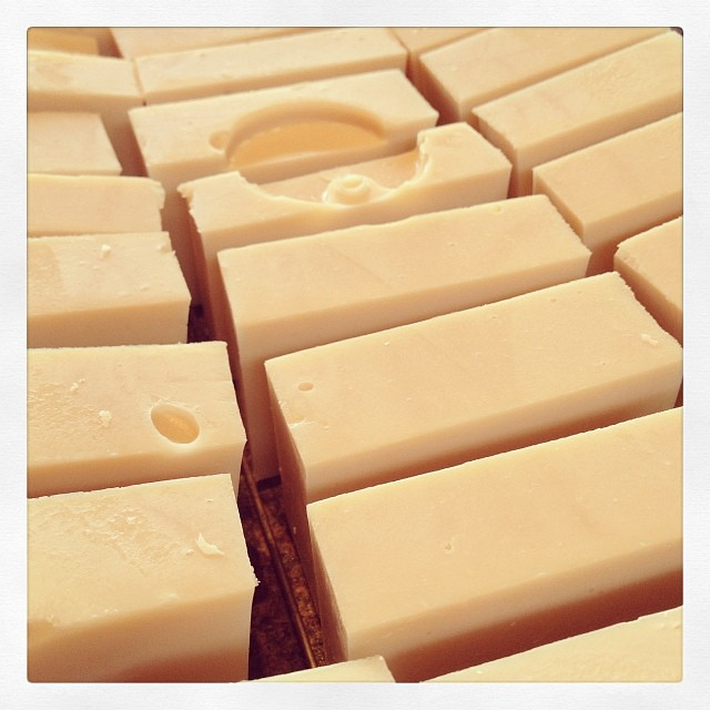 Goats milk and olive oil soap