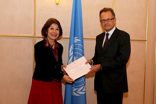 NEW PERMANENT REPRESENTATIVE OF BRAZIL PRESENTS CREDENTIALS