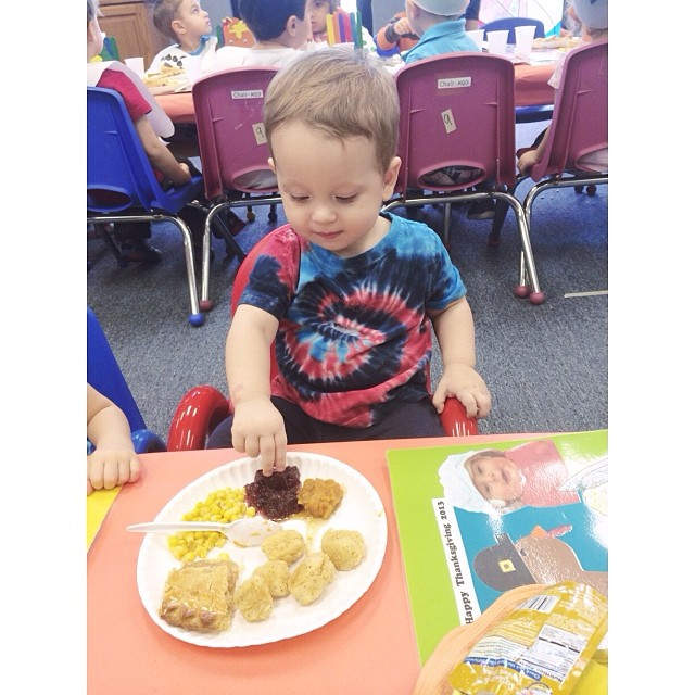 My little sweetie at the school #thanksgiving feast! He loved it! #pictapgo_app