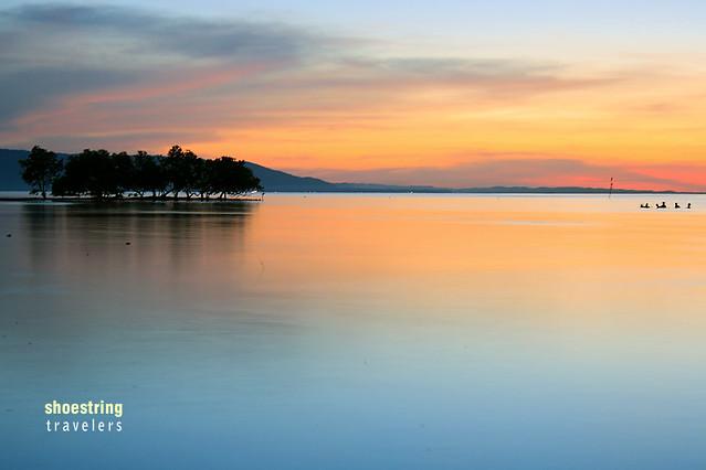 sunset colors at Sandugan Beach