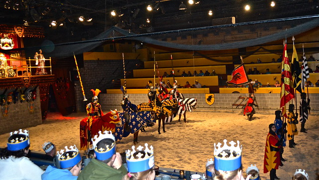 Medieval  Times Orlando Florida - welcoming  committee