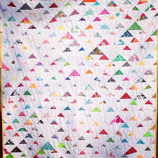 Marina's Scrappy Triangles Quilt- front
