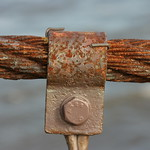 Rusted bridge cable