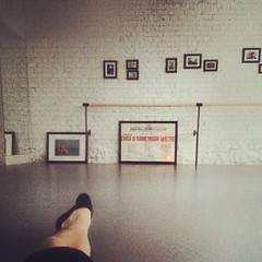 Stretching in the morning.. In 30 minutes studio will be full of dancers.. #dancesecret #ballet