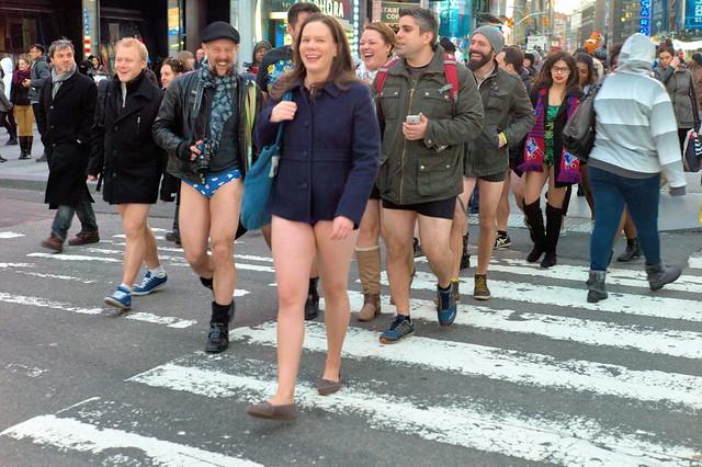 no pants times square nyc