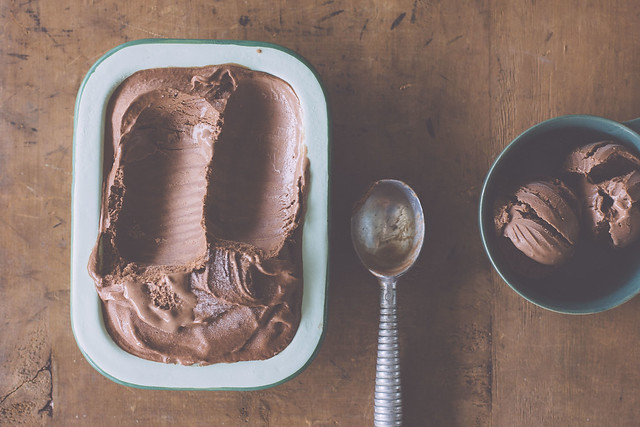 Dairy-free dark chocolate cinnamon ice cream