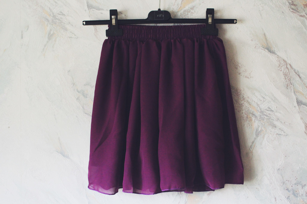 double chffon skirt in purple review bought on Ebay