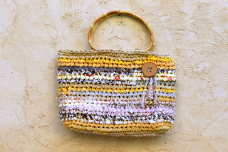 Yellowish Rag Basket