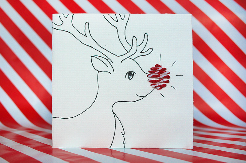 Christmas Cards - Reindeer design